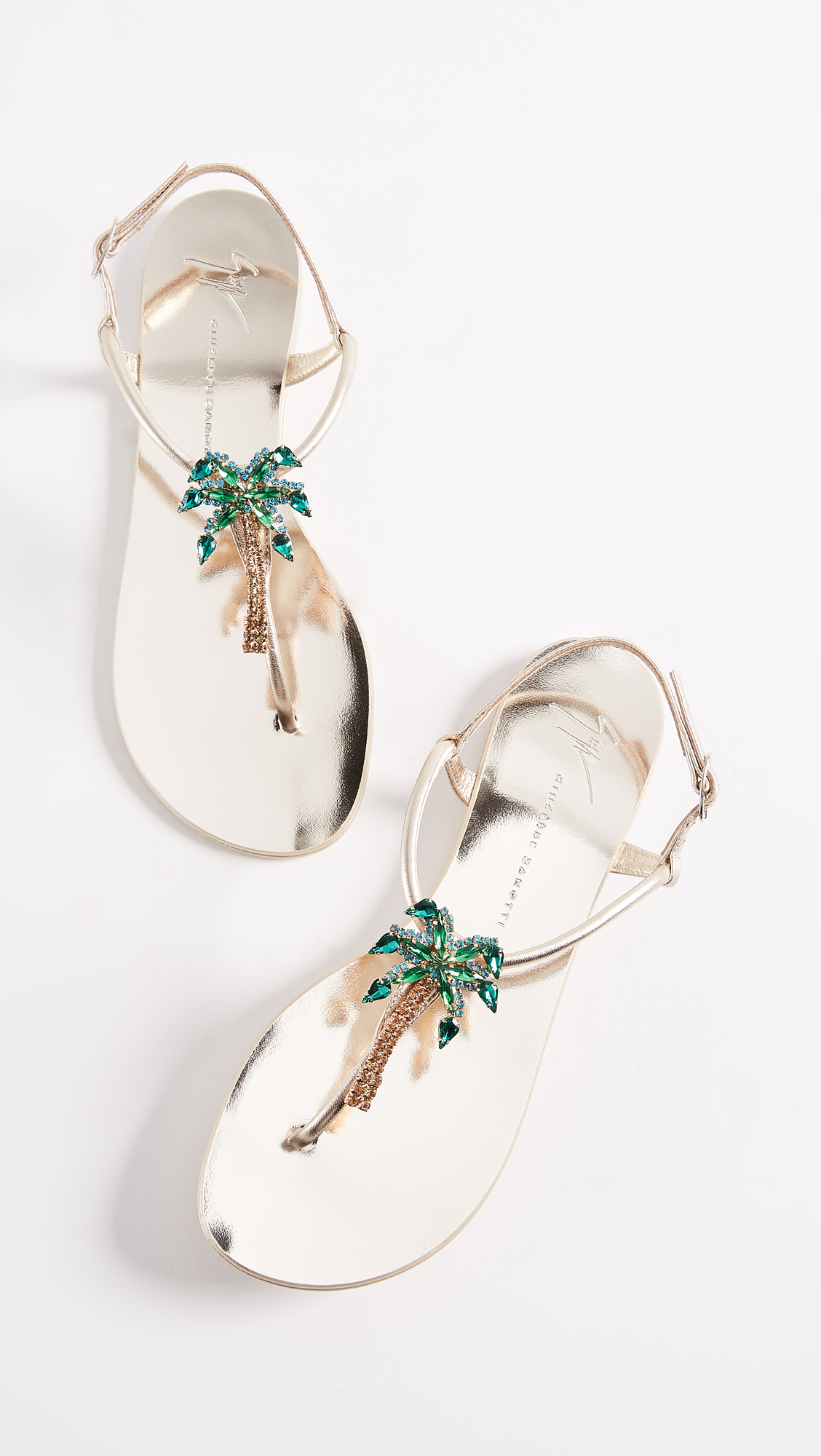 eb9d3aae9 Giuseppe Zanotti Flat Palm Tree Sandals