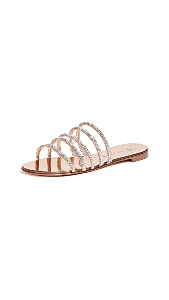 Giuseppe Zanotti Multi Strap Flat Sandals In Ramino