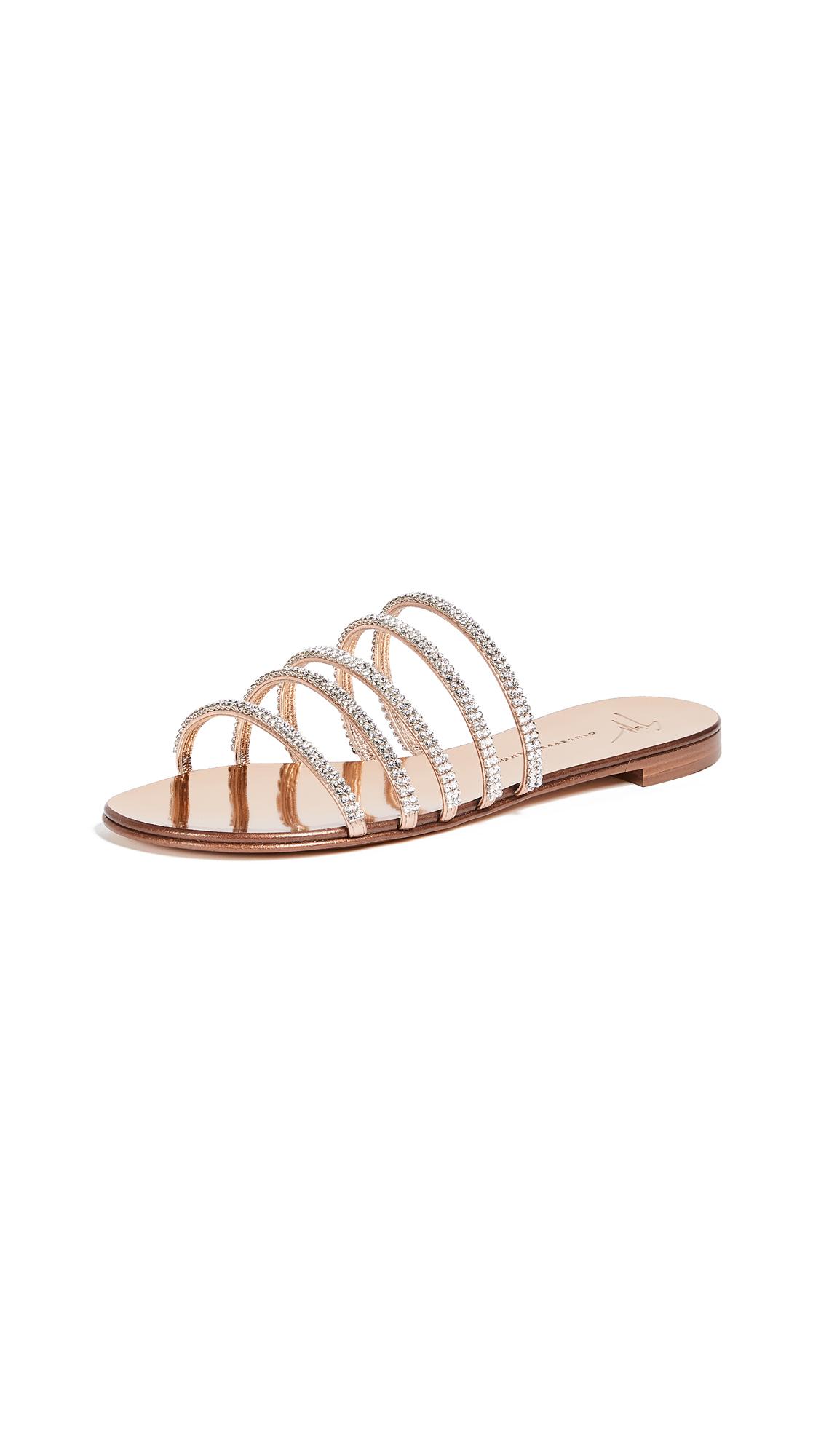 Giuseppe Zanotti Multi Strap Flat Sandals - Ramino