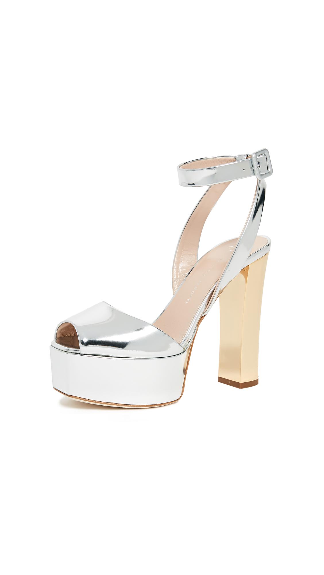Giuseppe Zanotti Platform Sandal Pumps - Argento
