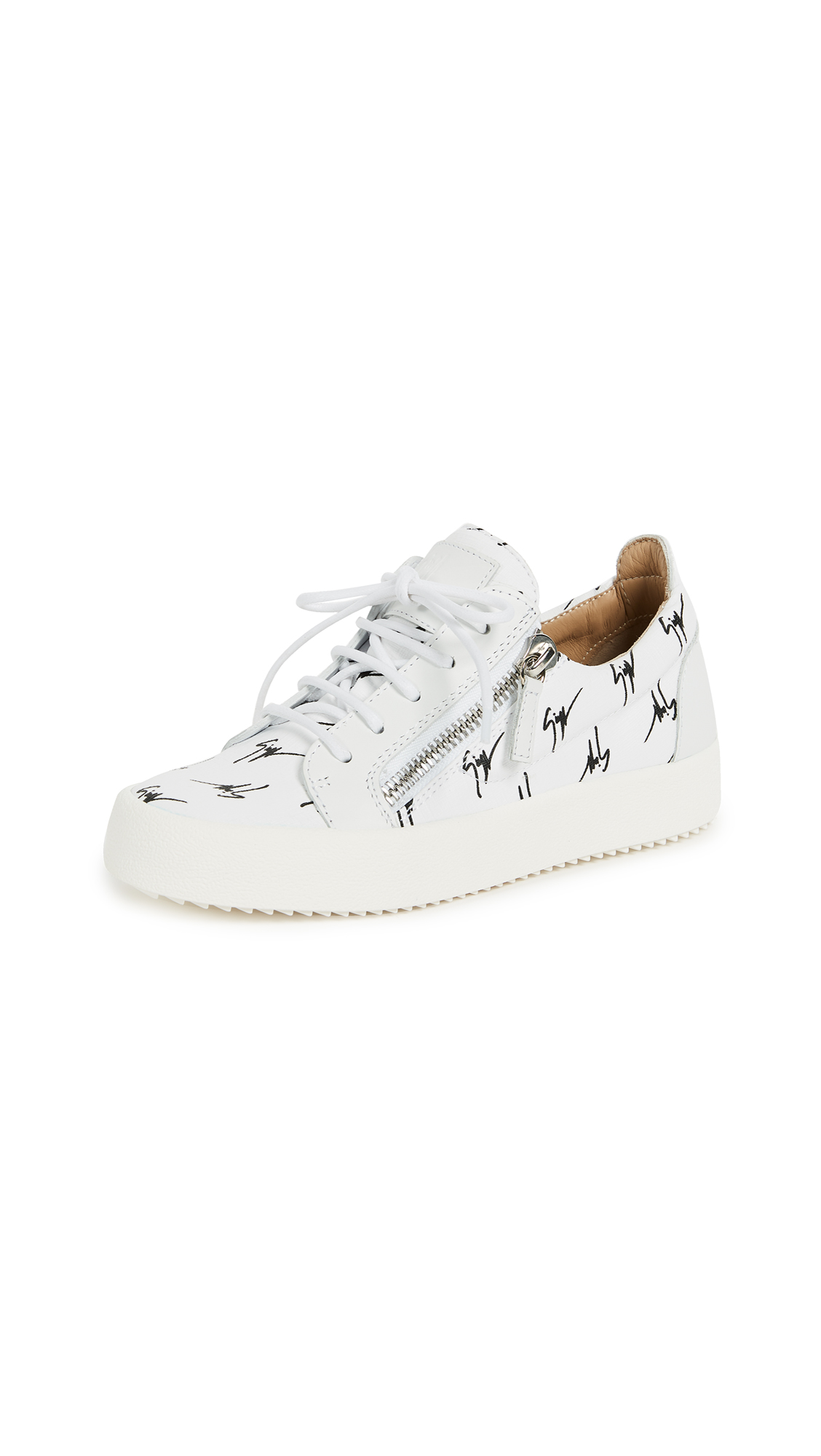 Giuseppe Zanotti Zip Sneakers - Bianco/Nero