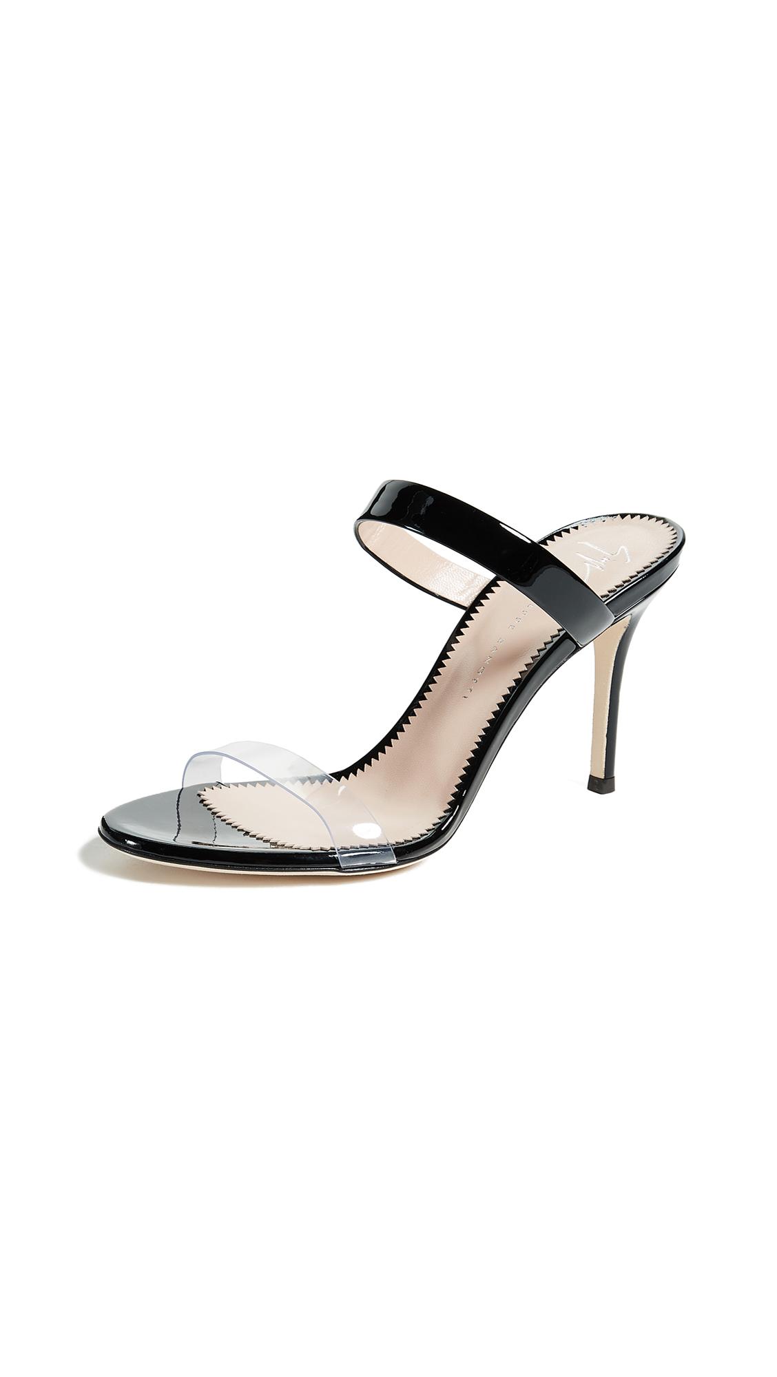 Giuseppe Zanotti Mule Pump Sandals - Black/Clear