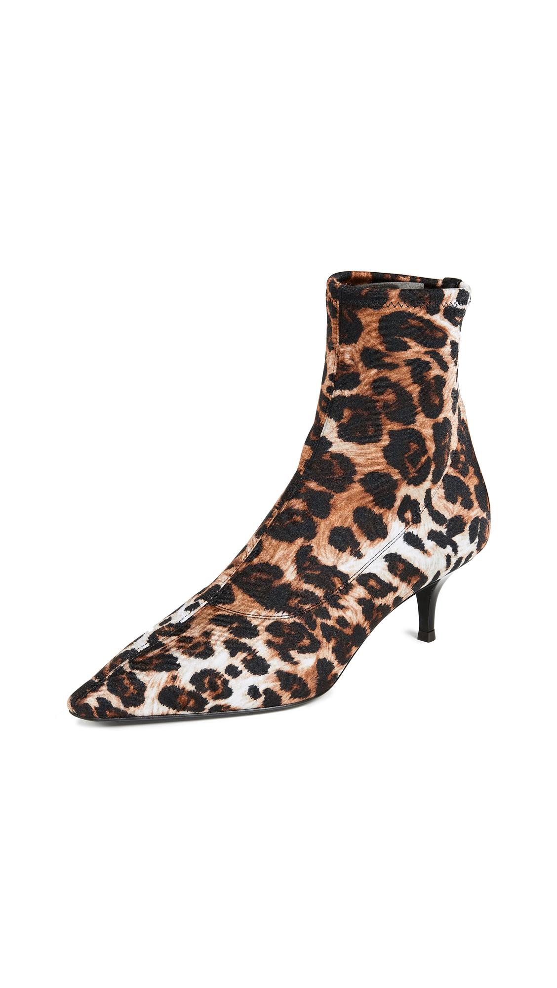 Giuseppe Zanotti Kitten Heel Booties - Leopard