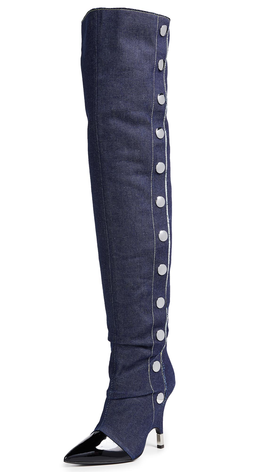 Giuseppe Zanotti Stud Thigh High Boots - Nero