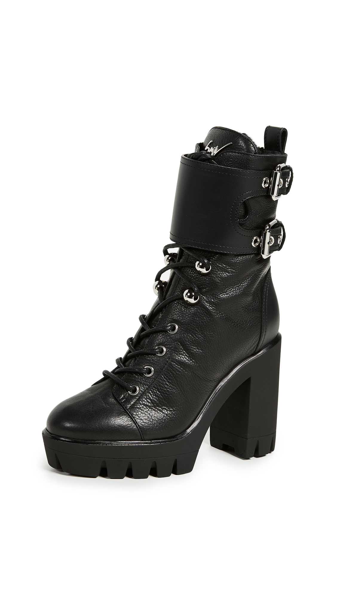 Photo of Giuseppe Zanotti Heeled Buckle Ankle Boots online shoes sales