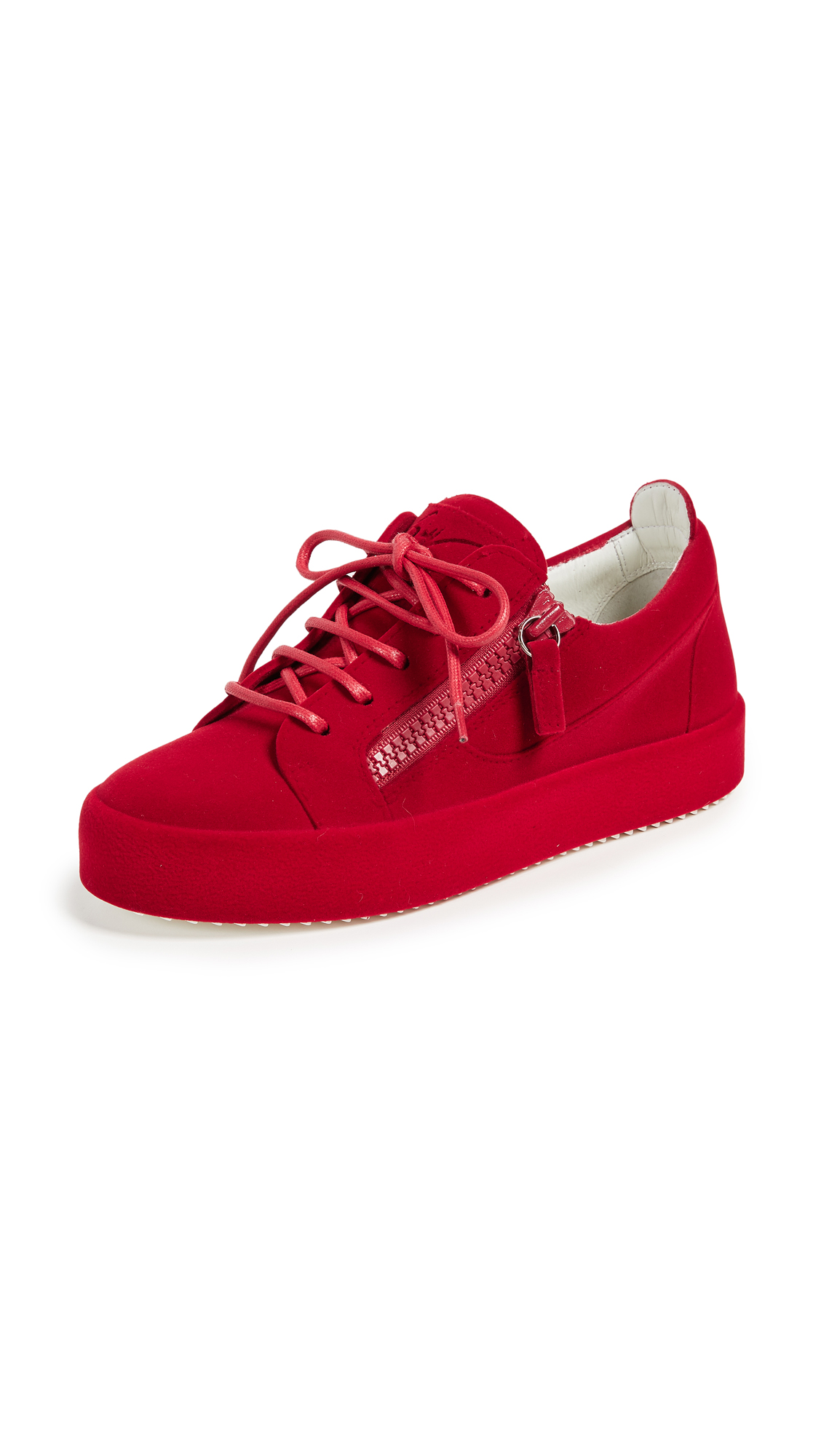 Giuseppe Zanotti Zip Sneakers - Red