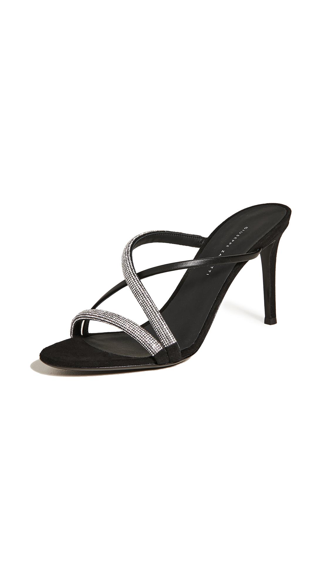 Buy Giuseppe Zanotti 85mm Basic Slide Sandals online, shop Giuseppe Zanotti