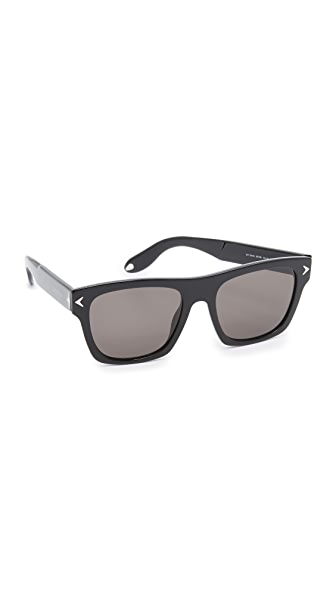 Givenchy Flat Top Sunglasses - Black/Grey