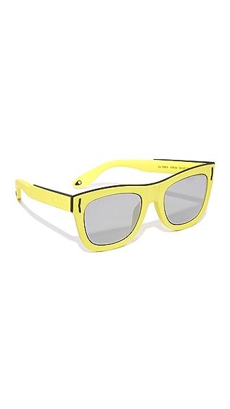 Givenchy Зеркальные солнцезащитные очки с резиновым покрытием