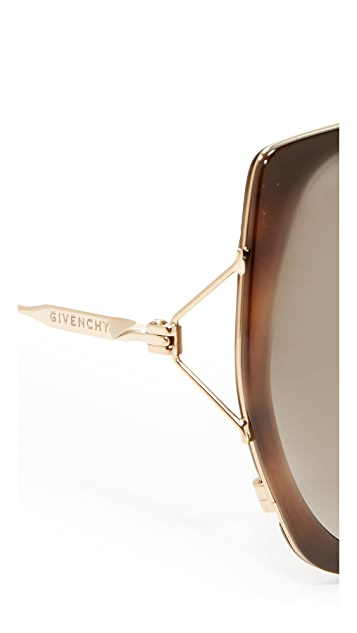 Givenchy Arrow Aviator Sunglasses