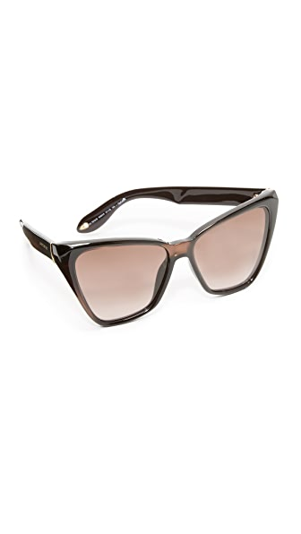 Givenchy Cat Eye Sunglasses - Brown/Lilac