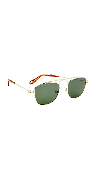 Givenchy Petite Square Sunglasses - Gold/Green