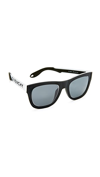 Givenchy Square Sunglasses - Black White/Grey