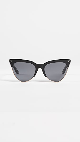 Givenchy Teardrop Sunglasses - Black Gold/Grey Blue