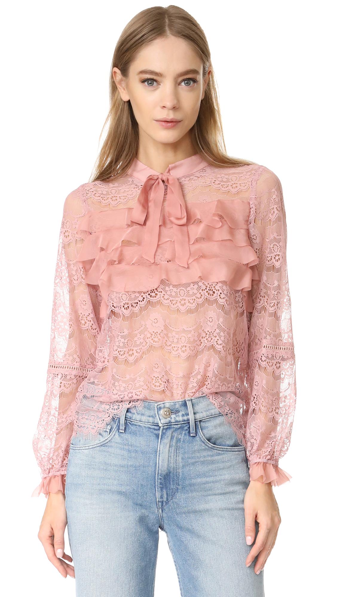 Glamorous Ruffle Lace Blouse