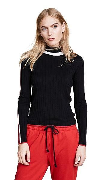 GLAMOROUS Varsity Sweater in Black