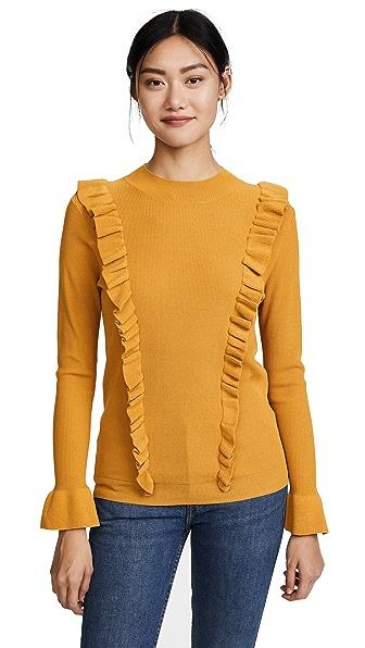 Glamorous Ruffle Front Sweater