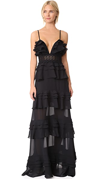 Glamorous Tiered Dress In Black