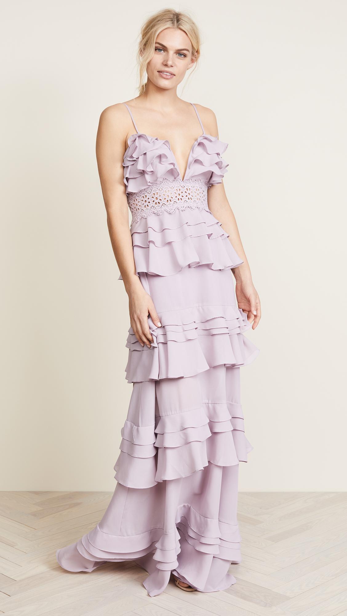 Glamorous True Decadence Ruffle Gown | SHOPBOP