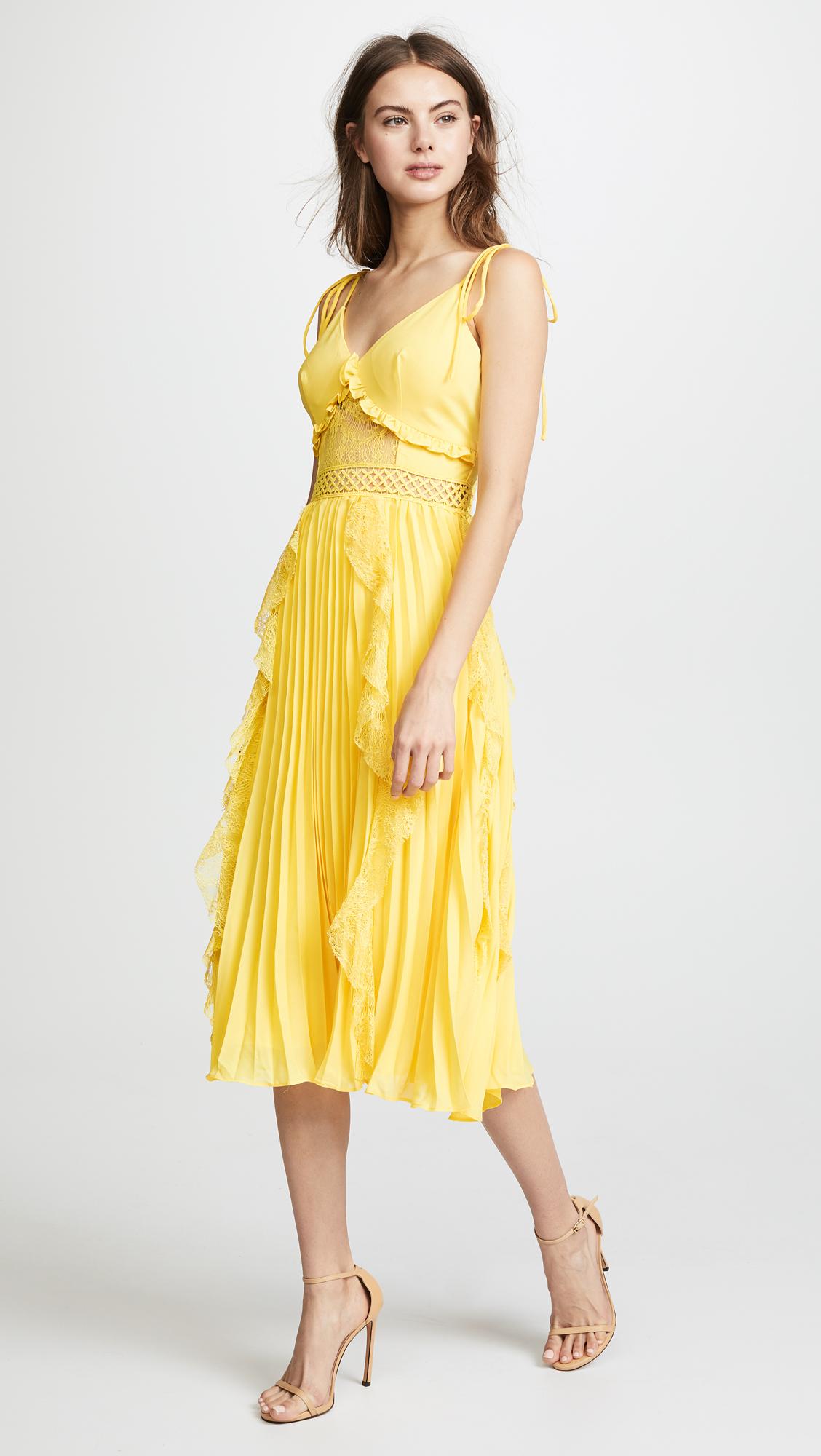 5e700ed1d7 Glamorous Ruffled Pleats Dress