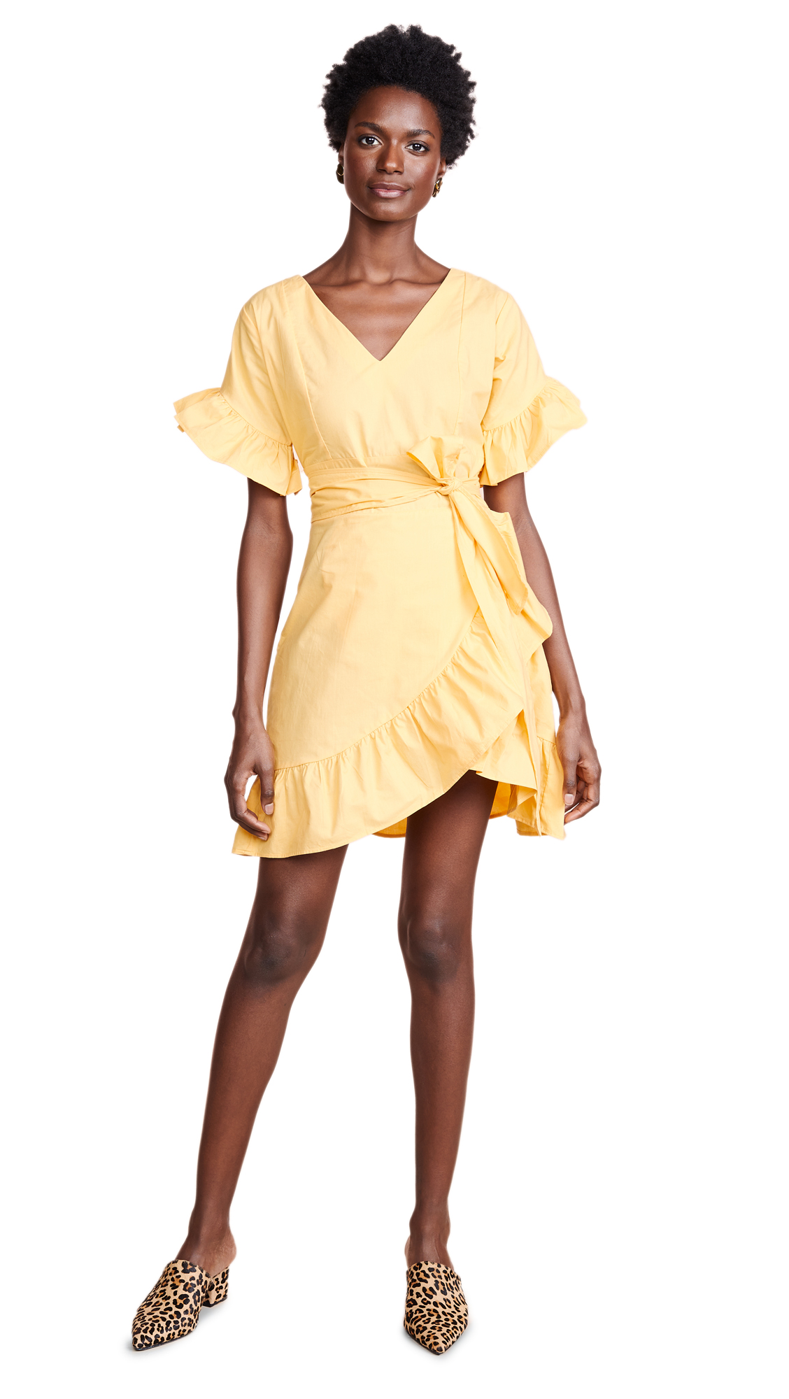 Glamorous Wrap Dress In Yellow