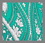 Green/White Paisley