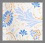奶白蓝花卉印花