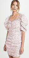 Glamorous 粉色小花透明硬纱迷你连衣裙