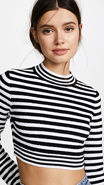 Victor Glemaud Terry Striped Top