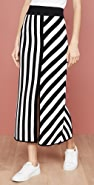 Victor Glemaud Striped Mid Length Skirt