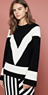 Victor Glemaud V Neck Long Sleeve Sweater