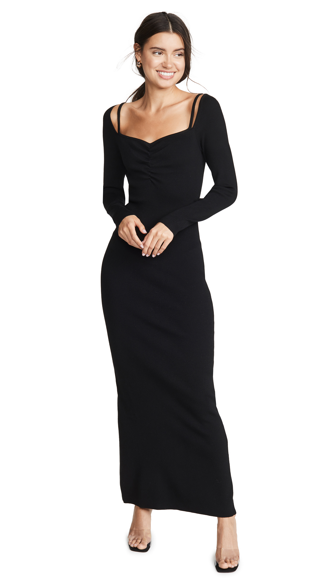Buy Victor Glemaud Long Sleeve Ribbed Dress online beautiful Victor Glemaud Dresses, Strapless
