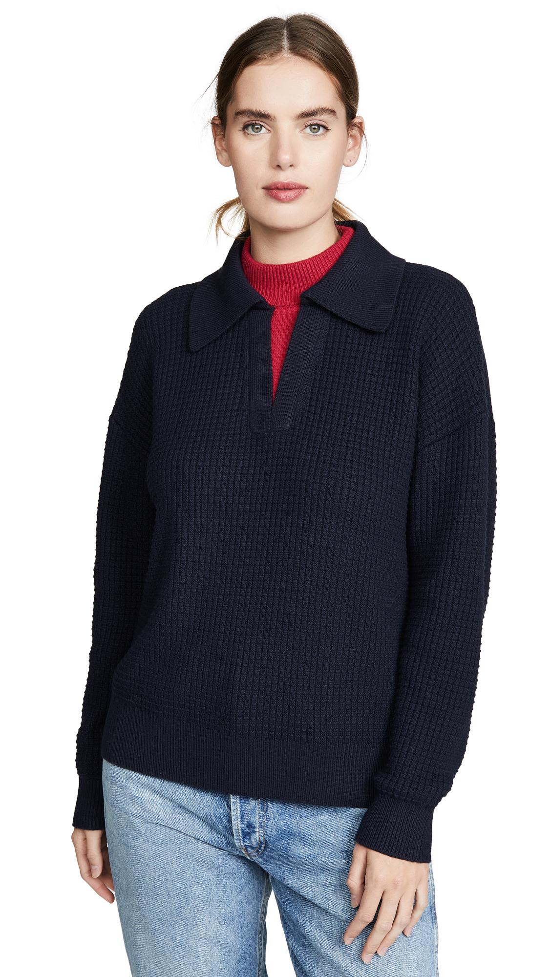 Buy Victor Glemaud online - photo of Victor Glemaud Long Sleeve Double Collar Sweater