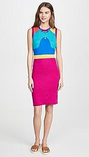 Victor Glemaud Jacquard Sleeveless Dress