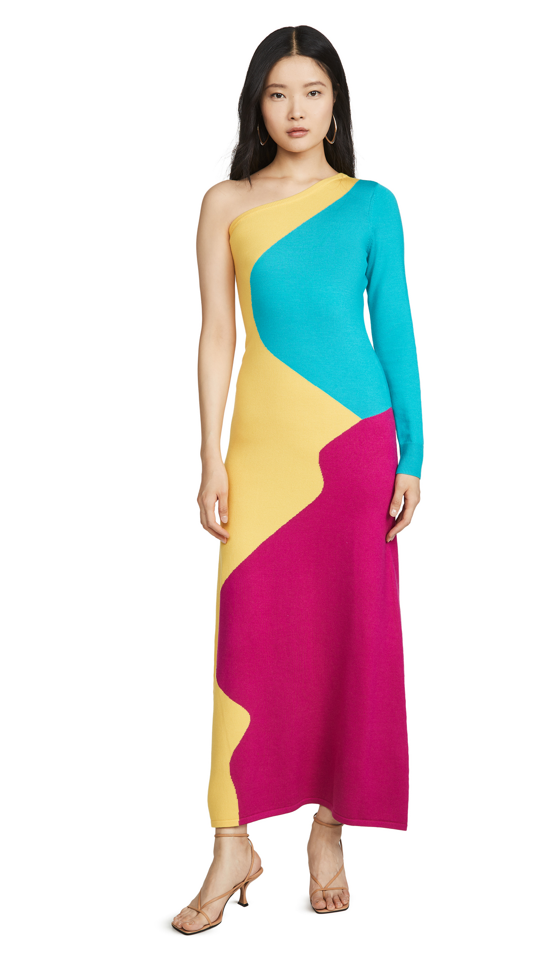 Buy Victor Glemaud One Shoulder Long Sleeve Dress online beautiful Victor Glemaud Clothing, Dresses