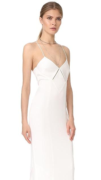 Galvan London Diamond Cutout Dress
