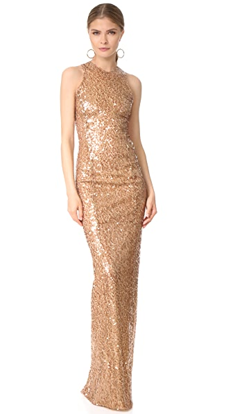 Galvan London Sequin Racer Dress