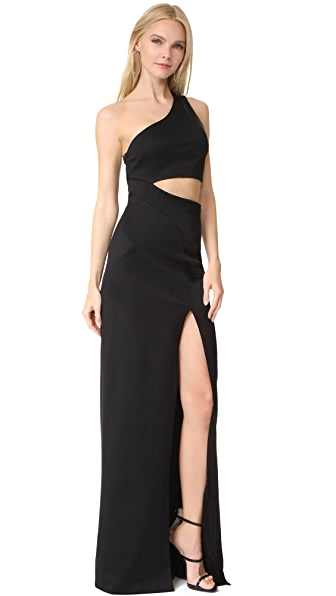 Galvan London Asymmetrical Cutaway Dress