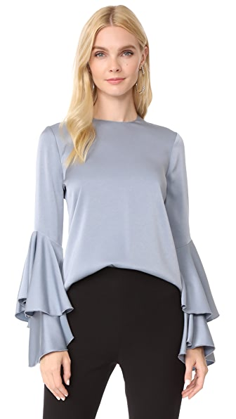 Galvan London Flared Top - Dove Grey