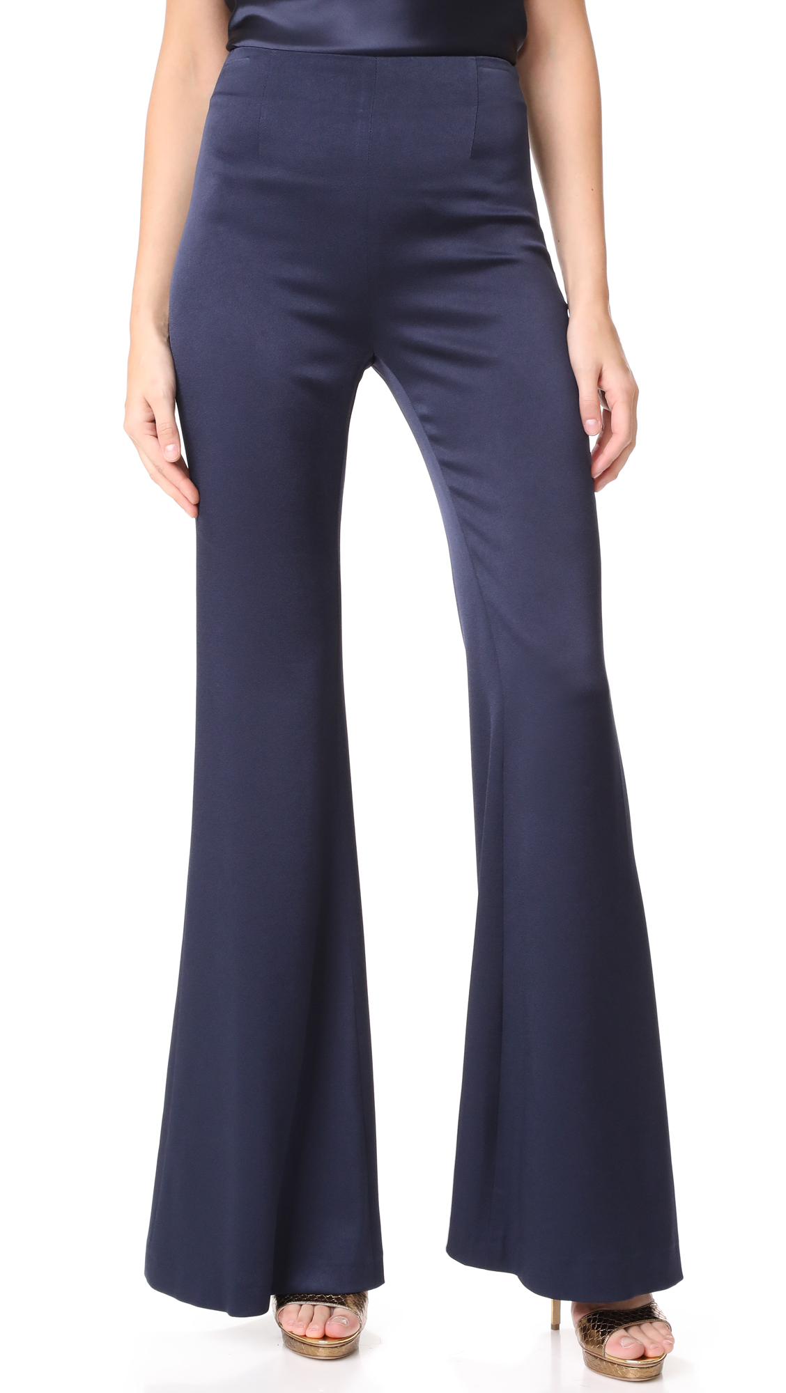 Galvan London High Waisted Satin Trousers