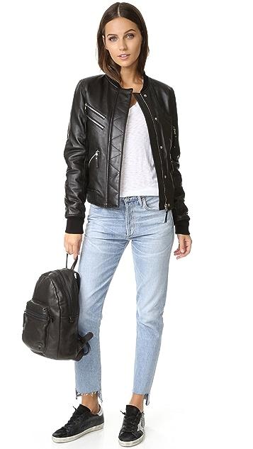 Generation Love Gigi Leather Puffer Bomber