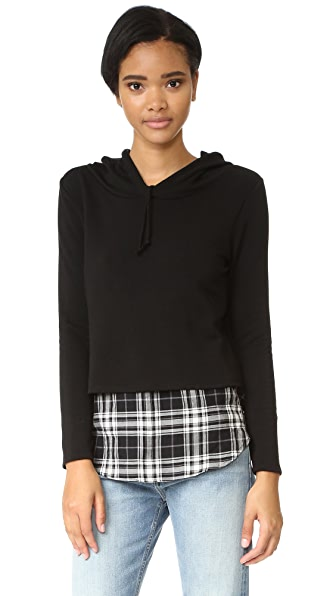 Generation Love Chester Plaid Hoodie