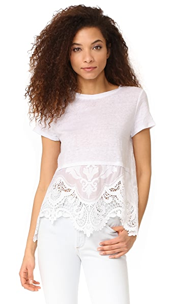 Generation Love Wheeler Tee with Lace Hem