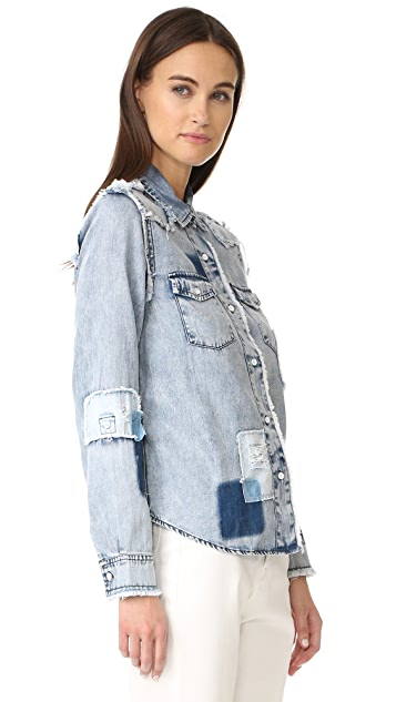Generation Love Clarke Button Down with Patches