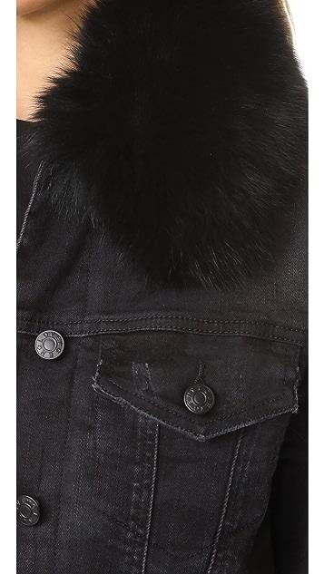 Generation Love Muriel Denim Jacket with Optional Fur Lining