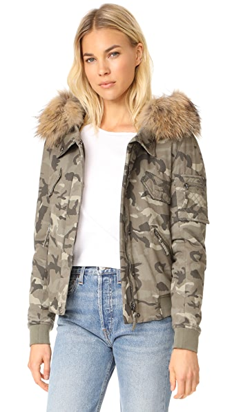 Generation Love Fran Camo Bomber Jacket