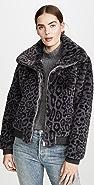 Generation Love Heidi Faux Fur Bomber