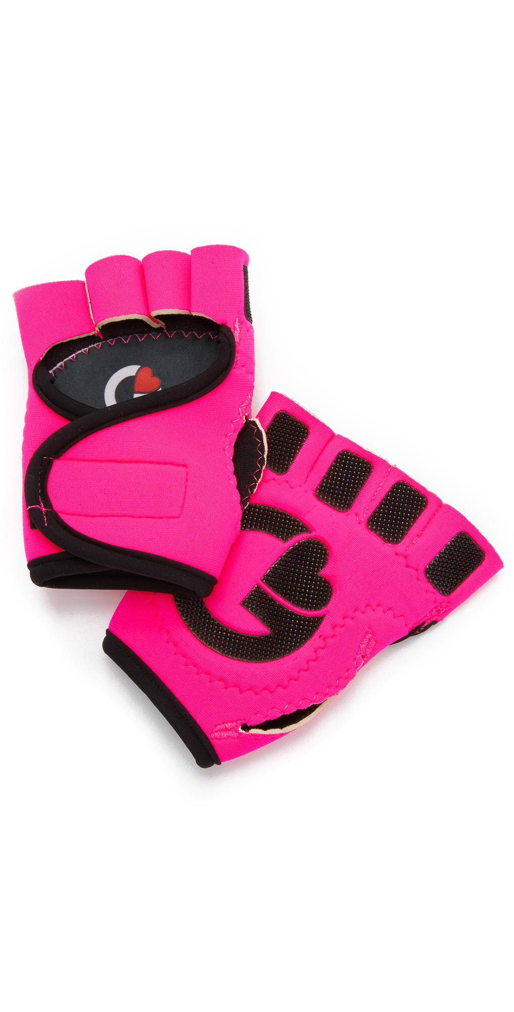 G-Loves Hot Pink with Black Workout Gloves