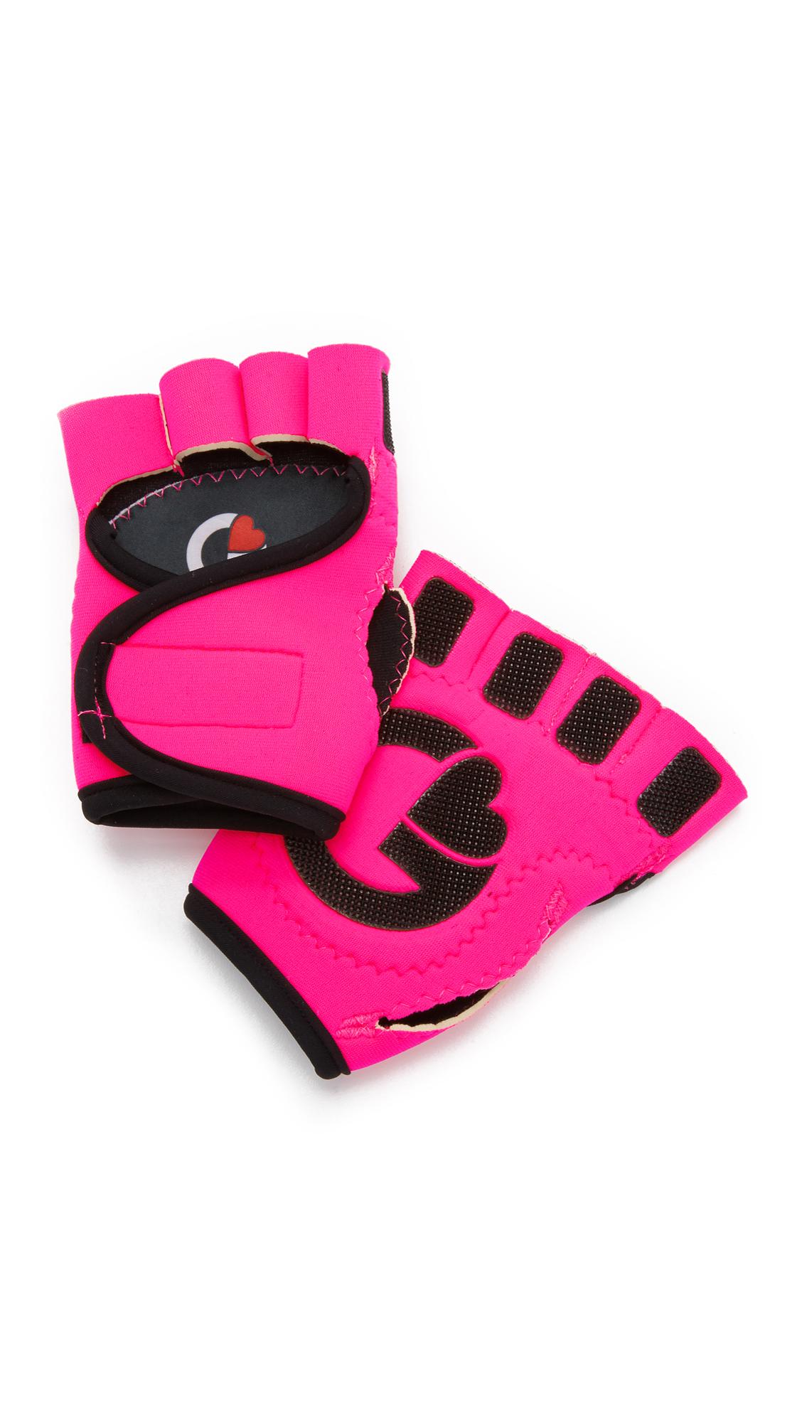 G-Loves Hot Pink With Black Workout Gloves - Hot Pink/Black at Shopbop