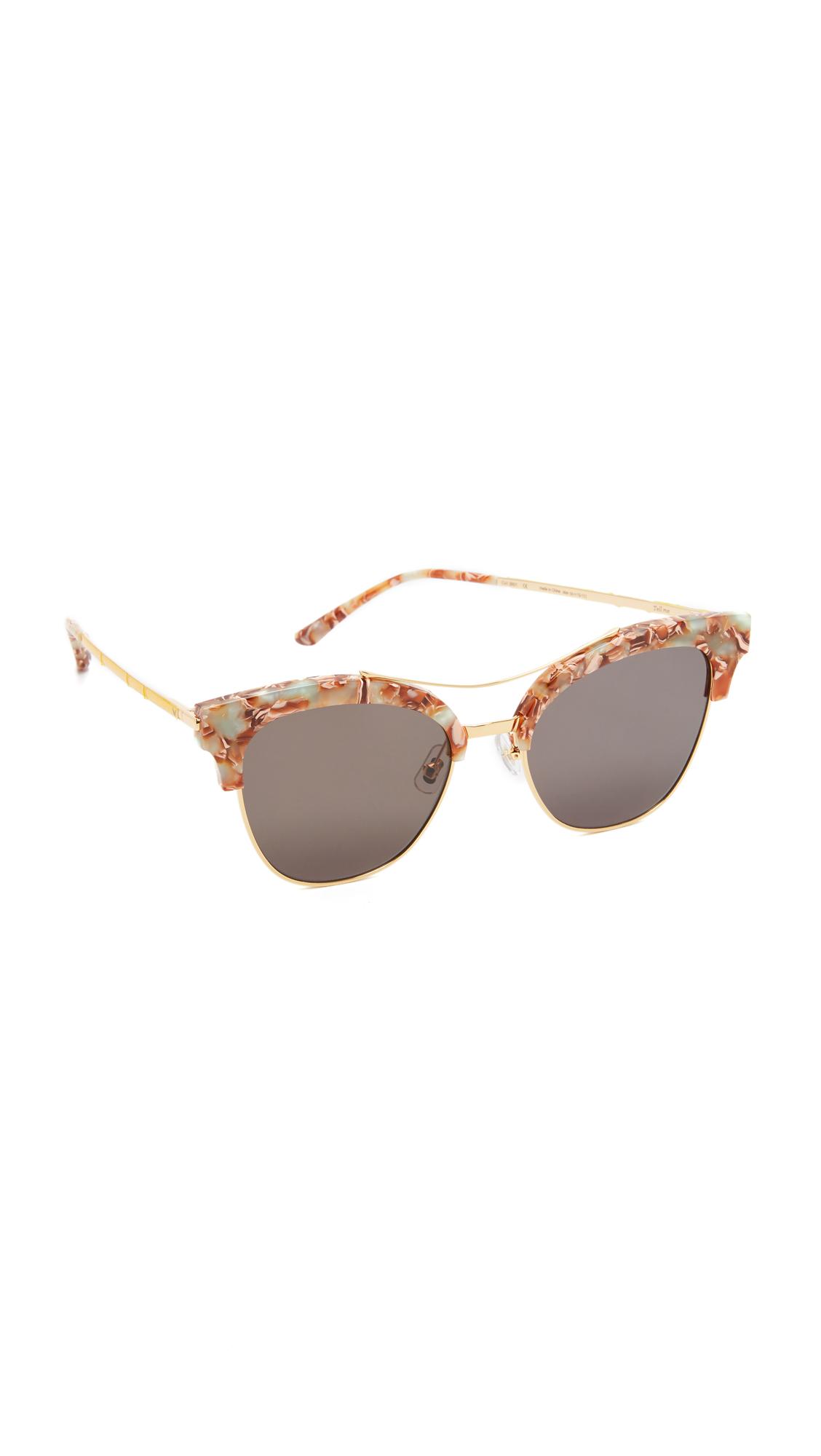 38e6cd24ab Gentle Monster Tell Me Sunglasses - Mint Multi Red